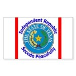 Texas-5 Rectangle Sticker 10 pk)