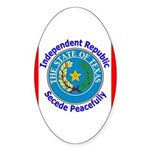 Texas-5 Oval Sticker (10 pk)