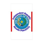 Texas-5 Rectangle Sticker 50 pk)