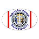 Wyoming-5 Oval Sticker (50 pk)