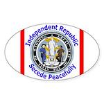 Wyoming-5 Oval Sticker (10 pk)