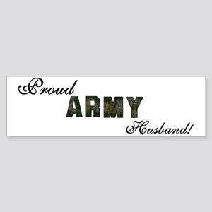 Proud Army Husband Bumper Sticker