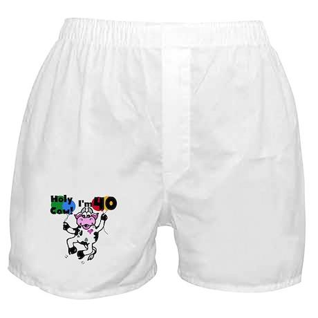 Holy Cow I'm 40 Boxer Shorts