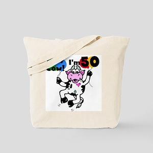 Holy Cow I'm 50 Tote Bag