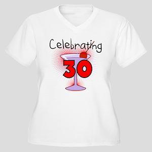 Cocktail Celebrating 30 Women's Plus Size V-Neck T