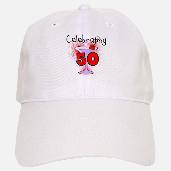 Cocktail Celebrating 50 Baseball Baseball Cap