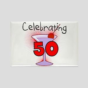 Cocktail Celebrating 50 Rectangle Magnet