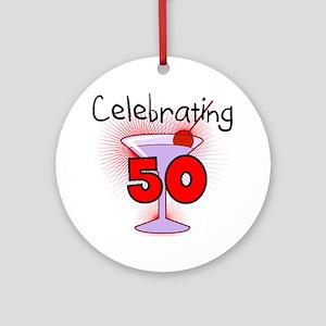 Cocktail Celebrating 50 Ornament (Round)