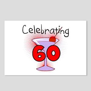 Cocktail Celebrating 60 Postcards (Package of 8)