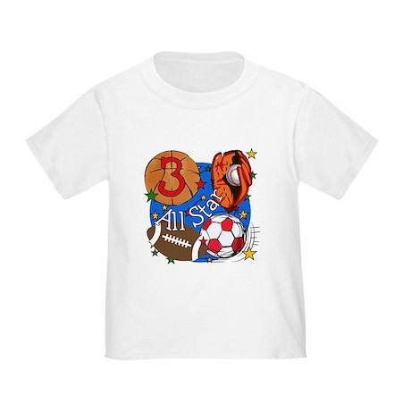 Sports 3rd Birthday Toddler T-Shirt
