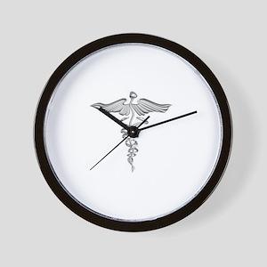 Abstract Medical Symbol Gray. Wall Clock