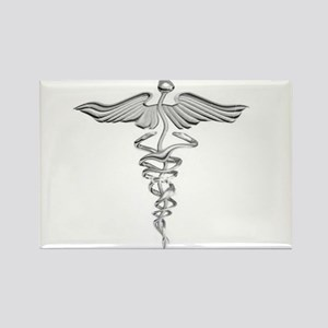Abstract Medical Symbol Gray. Rectangle Magnet