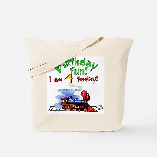 Train 4th Birthday Tote Bag