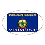 Vermont-4 Oval Sticker (10 pk)