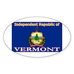 Vermont-4 Oval Sticker