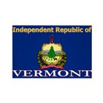 Vermont-4 Rectangle Magnet (100 pack)
