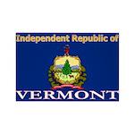 Vermont-4 Rectangle Magnet