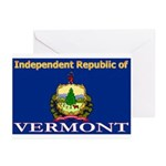 Vermont-4 Greeting Cards (Pk of 20)
