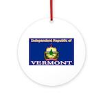 Vermont-4 Ornament (Round)