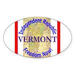 Vermont-3 Oval Sticker