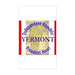 Vermont-3 Rectangle Sticker