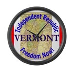 Vermont-3 Large Wall Clock