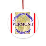 Vermont-3 Ornament (Round)