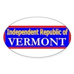Vermont-2 Oval Sticker (10 pk)