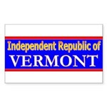 Vermont-2 Rectangle Sticker