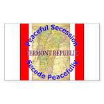 Vermont-1 Rectangle Sticker
