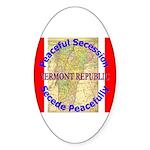 Vermont-1 Oval Sticker (50 pk)