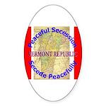 Vermont-1 Oval Sticker (10 pk)