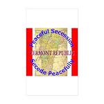 Vermont-1 Rectangle Sticker 50 pk)