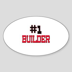 Number 1 BUILDER Oval Sticker