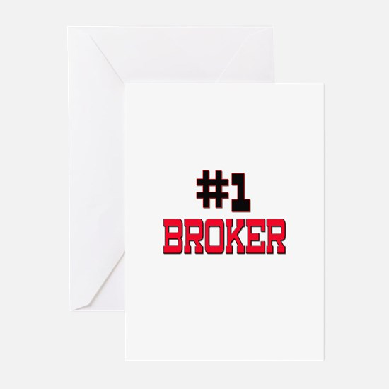 Number 1 BROKER Greeting Cards (Pk of 10)