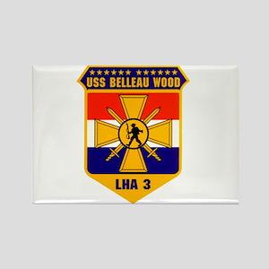 USS Belleau Wood LHA 3 US Navy Rectangle Magnet