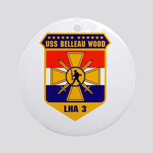 USS Belleau Wood LHA 3 US Navy Ornament (Round)