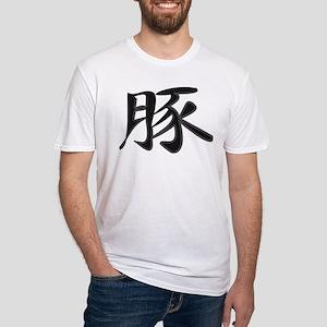 Pig - Kanji Symbol Fitted T-Shirt