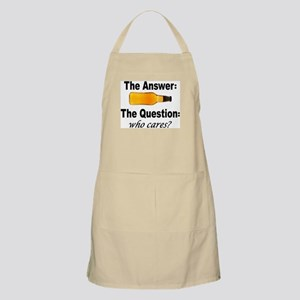 Beer: The Answer BBQ Apron