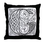 Celtic Letter G Throw Pillow