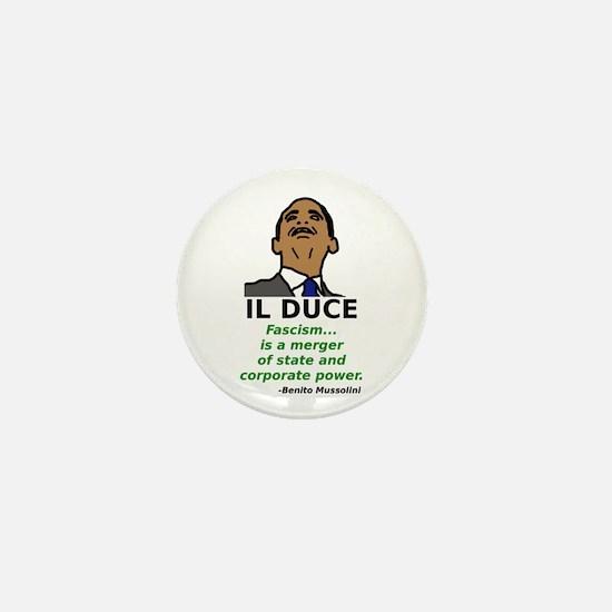 Obama: Il Duce Mini Button