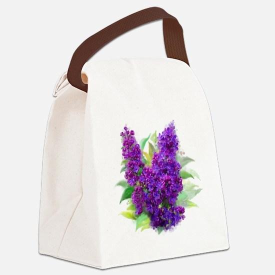 Cute Lilac Canvas Lunch Bag