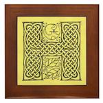 Celtic Letter H Framed Tile