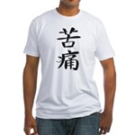 Pain - Kanji Symbol Fitted T-Shirt