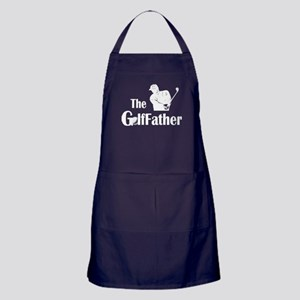 The Golf Father T Shirt Apron (dark)