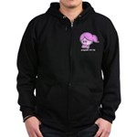 Pregnant not Fat Zip Hoodie (dark)