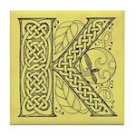 Celtic Letter K Tile Coaster