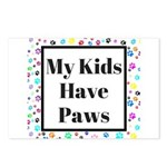 My Kids Have Paws Postcards (Package of 8)