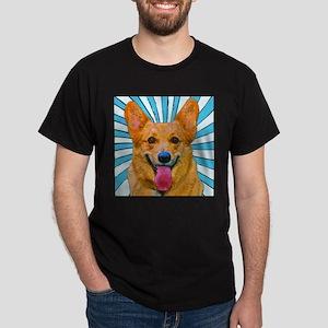 Pop Art Corgi Pair Black T-Shirt