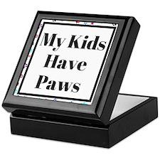 My Kids Have Paws Keepsake Box